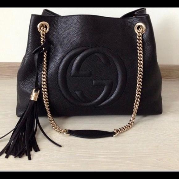 c485372741cd Authentic Black Gucci Soho Medium Bag. Brand New!